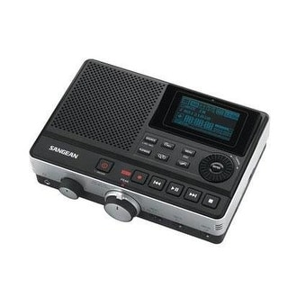 Sangean Dar-101 Digital Mp3 Recorder, Black, Built-In High Fidelity Stereo Microphone With Dual Agc Loop, Telephone/Musi