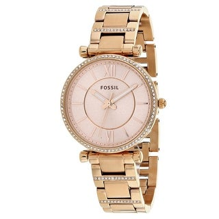Fossil Women's Carlie ES4301 Rose-Tone Dial watch