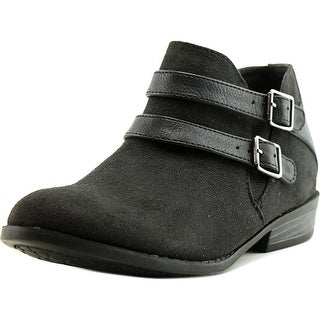 Madden Girl Kest Youth Round Toe Canvas Black Ankle Boot