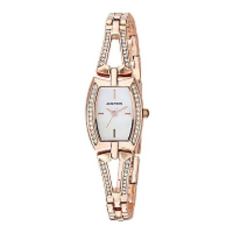 Armitron Womens 26mm Swarovski Crystal Accented Gold-Tone Bangle Watch