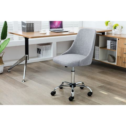 Porthos Home Office Chair With Fabric Upholstery, Adjustable Height