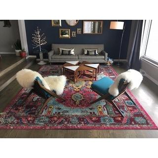 nuLOOM Distressed Abstract Vintage Oriental Multi Rug (9' x 12')