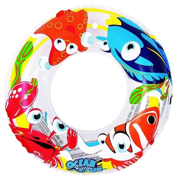 "20"" Clear Ocean Fun Children's Inflatable Swimming Pool Inner Tube Ring Float"
