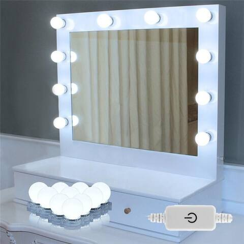 LED Vanity Mirror Lights Makeup Lighting Kit w/ 10 Light Bulbs Makeup