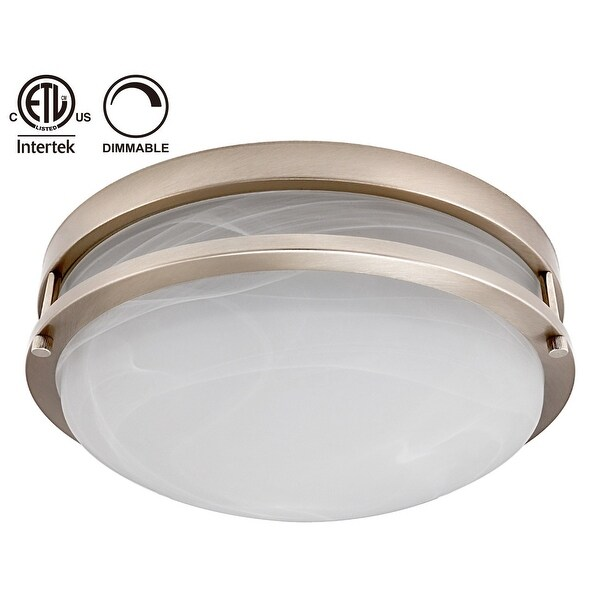 Shop 12 5 Inch Dimmable Led Flush Mount Ceiling Light