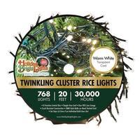 Holiday Bright Lights LED-3MCR768-GWW Twinkling Cluster Christmas Light Set