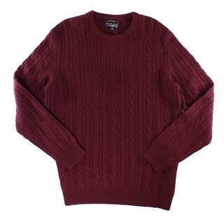 Club Room NEW Red Carbernet Mens Medium M Crewneck Cashmere Sweater