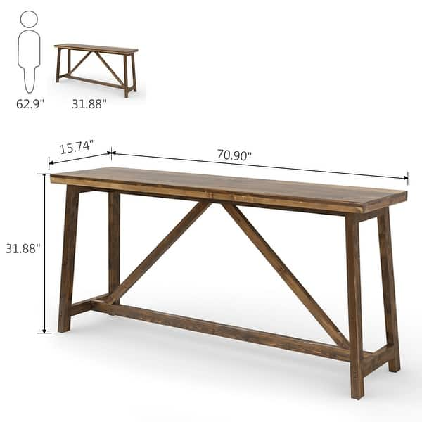 Extra Long Sofa Table Solid Wood