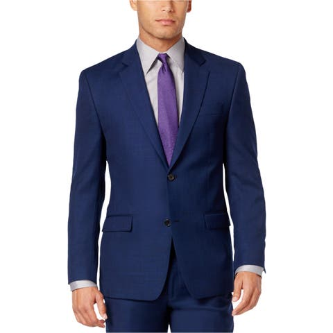 Shaquille O'neal Mens Textured Two Button Blazer Jacket - 44 Regular