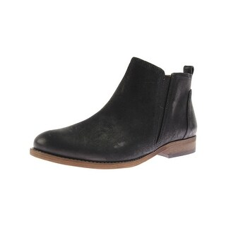 Franco Sarto Womens Hancock Ankle Boots Leather Stretch Ankle