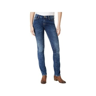 Tommy Hilfiger Womens Greenwich Straight Leg Jeans Mid-Rise Denim