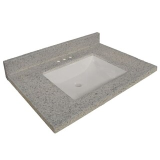 "Design House 557553 31"" Marble Vanity Top Only with 3 Faucet Holes"