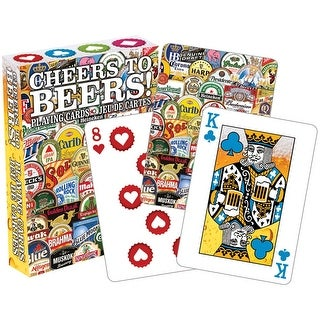 Cheers to Beers Licensed Playing Cards - Standard Poker Deck - multi-color