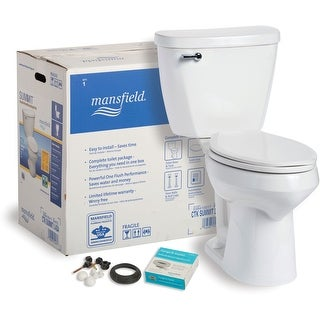 Mansfield 4385CTK  Summit 1.28 GPF Two-Piece Elongated Toilet Complete Kit - White