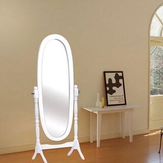 Costway Full Length Dressing Mirror Swivel Wood Cheval Floor Standing  Antique