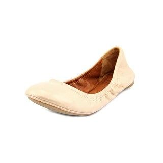 Lucky Brand Emmie Women Round Toe Leather Nude Ballet Flats