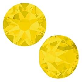 Swarovski Crystal, Round Flatback Rhinestone SS12 3mm, 50 Pieces, Yellow Opal