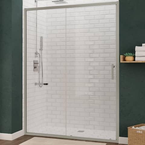 "ANZZI Halberd 60"" x 72"" Semi-Frameless Sliding Shower Door with TSUNAMI GUARD"