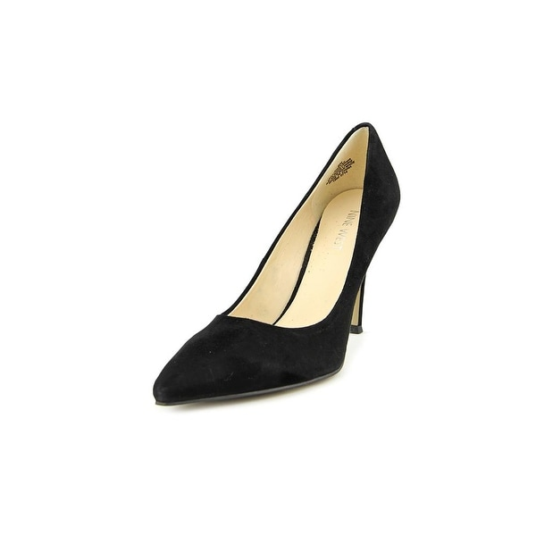Nine West Flax Women Pointed Toe Suede Black Heels