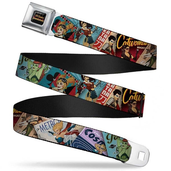 Dc Comics Bombshells Rays Full Color Black Gray Orange Red Fade 8 Dc Seatbelt Belt