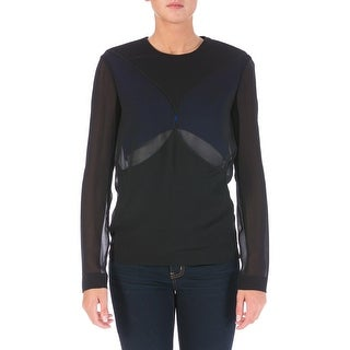 Dion Lee Womens Silk Colorblock Blouse - 2
