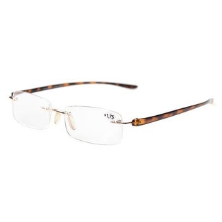 Eyekepper Readers Small Lenes Rimless Reading Glasses Tortoise Arm +0.5