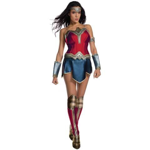 Rubies JL SW Wonder Woman Adult Costume - Red/Blue