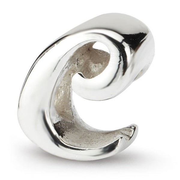 Sterling Silver Reflections Letter C Script Bead (4mm Diameter Hole)
