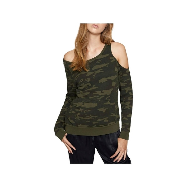 7bb31d874a2422 Shop Sanctuary Womens Sweatshirt Cold Shoulder Long Sleeve - Free Shipping  On Orders Over  45 - Overstock - 23441049
