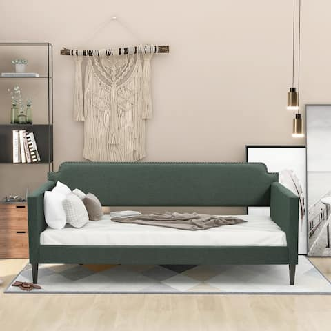 AOOLIVE Polyester Twin Daybed,No box spring required,Green