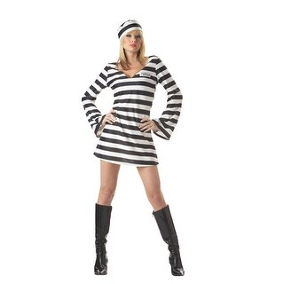 Sexy Convict Chick Adult Womens Halloween Costume
