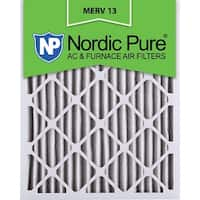 Nordic Pure16x25x2 Pleated MERV 13 AC Furnace Air Filters Qty 12