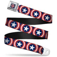 Marvel Universe Captain America Shield Full Color Navy Captain America Seatbelt Belt