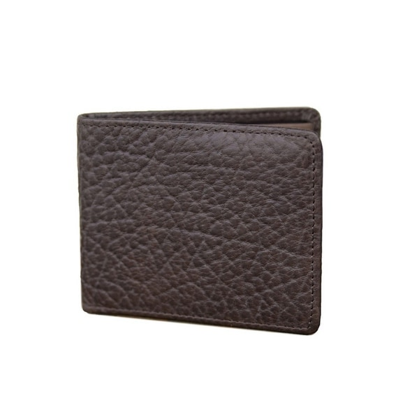 Vintage Bison Western Wallet Men Mesa Bifold Leather Brown