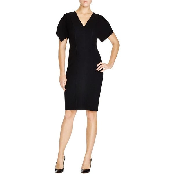 Elie Tahari Womens Lourdes Cocktail Dress Cold Shoulder V-Neck