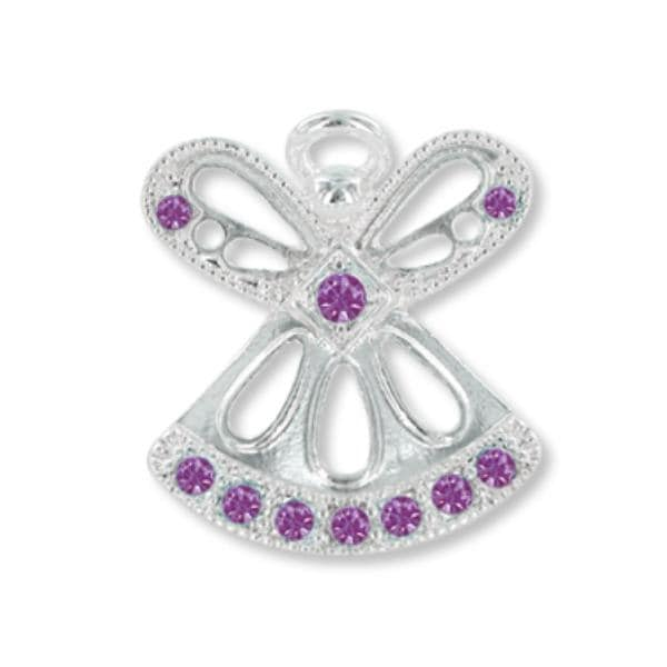 Ddi Wings And Wishes February Birthstone Angel (pack Of 28)