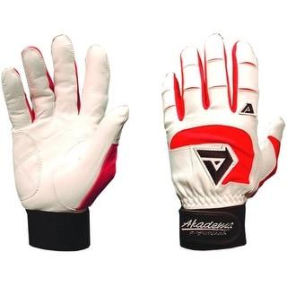 Akadema White/Red Professional Batting Gloves XS