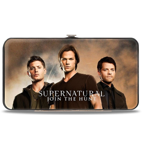 Dean, Sam & Castiel Group Supernatural Join The Hunt Hinged Wallet - One Size Fits most
