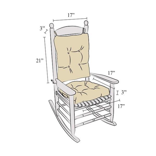 Shop Polar Sand XL Universal Rocker Cushion Set - Overstock - 10232154