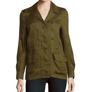 French Connection NEW Olive Green Womens Size Medium M Button-Up Jacket