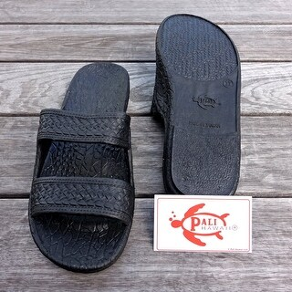 Pali Hawaii Jandals BLACK with Certificate of Authenticity (More options available)