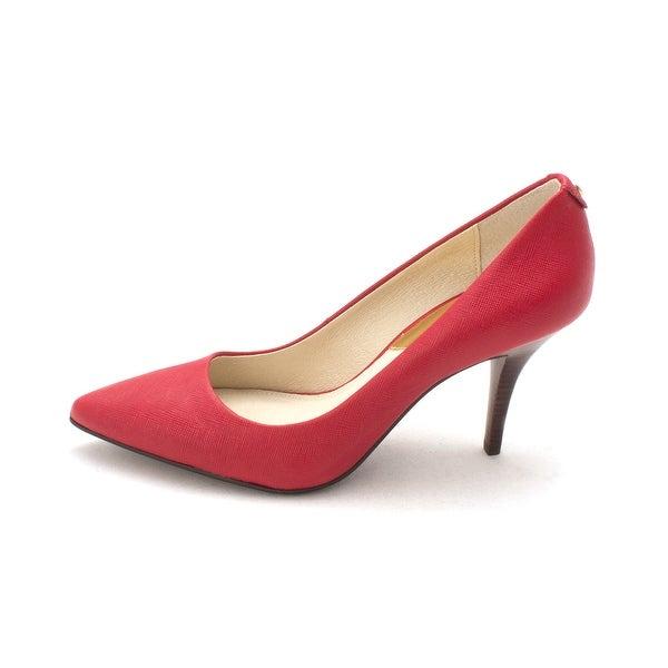 MICHAEL Michael Kors Womens Flex Pump Leather Closed Toe Classic Pumps