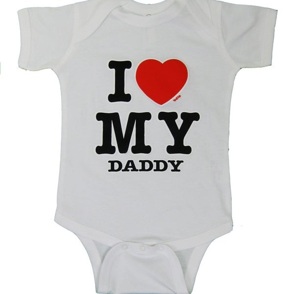7c302519 Shop Infant White I Love My Daddy one piece, Cute Tees, Boys Shirt, Toddler  Shirt, Girls Shirt,born, Father's Day - Free Shipping On Orders Over $45 ...