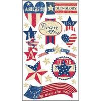 Stars & Stripes - Sticko Seasonal Stickers