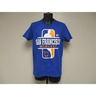 Golden State Warriors Adult Mens S Small Adidas Blue Shirt