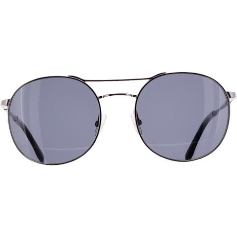 BCBGMAXAZRIA Womens Bold Round Sunglasses Non-Polarized Fashion - Gunmetal - O/S