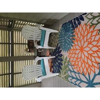 Nourison Aloha Indoor/Outdoor Multicolor Rug (5'3 x 7'5)