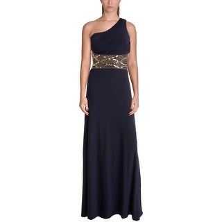 Aqua Womens Semi-Formal Dress Embellished One Shoulder