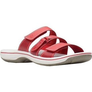 58045221d2a Shop Clarks Women s Brinkley Coast Slide Red Synthetic - Free Shipping  Today - Overstock - 27346830