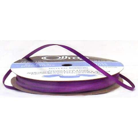 "Offray Ribbon Doubleface Satin 1/8"" Purple"